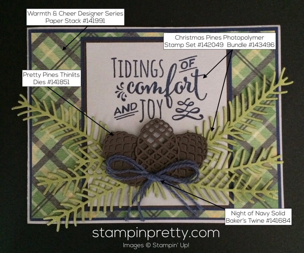 Be inspired by color pretty pines stampin 39 pretty for Mary fish stampin up
