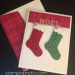 Cable Knit Christmas Stockings Card