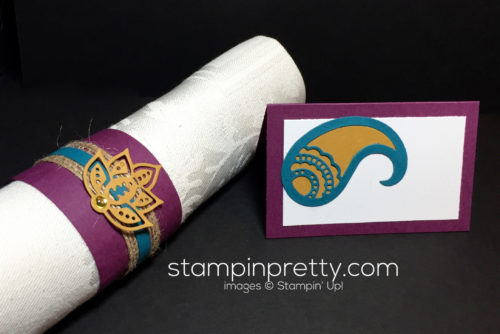 Stampin Up Paisleys & Poises Entertaining ideas - Mary Fish Stampinup