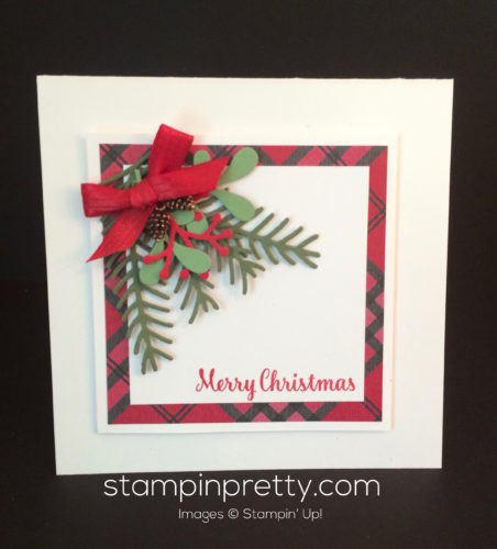 Stampin Up Pretty Pines Holiday cards idea - Mary Fish stampinup