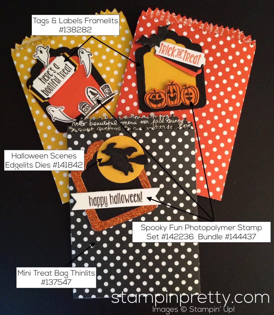 stampin up spooky fun treat bags halloween ideas - Stampin Up Halloween Ideas