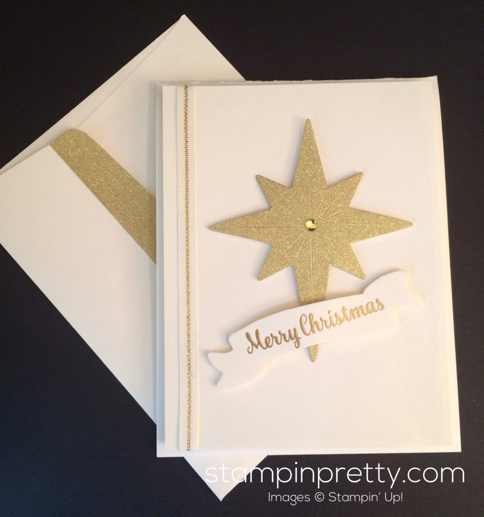 Simple Starlight Thinlits Christmas Card