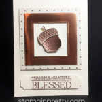 Copper Acorn Thank You Card