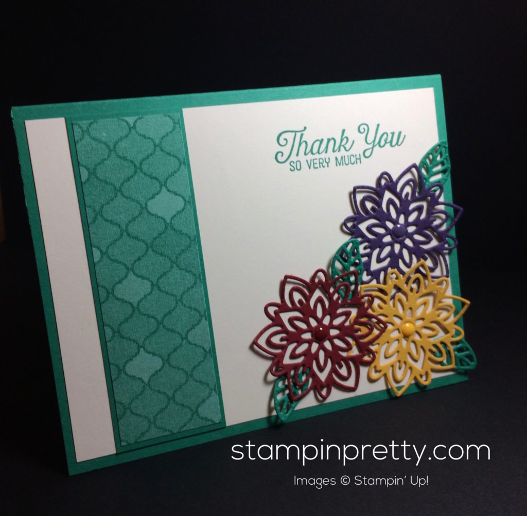 Inspired by color flourishing phrases stampin 39 pretty for Mary fish stampin up