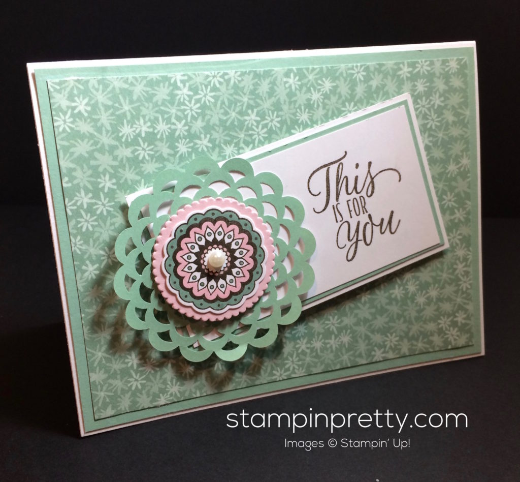So pretty in blooms bliss designer series paper for Mary fish stampin up