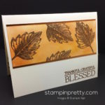 Copper Embossed Vintage Leaves Thank You Card