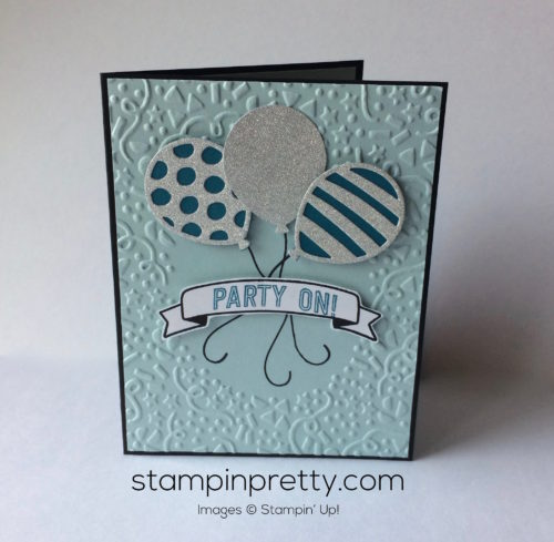 Inspired By Color Balloon Birthday Card Stampin Pretty