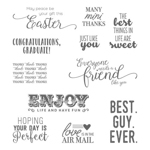 Suite Sentiments - Images © Stampin' Up!