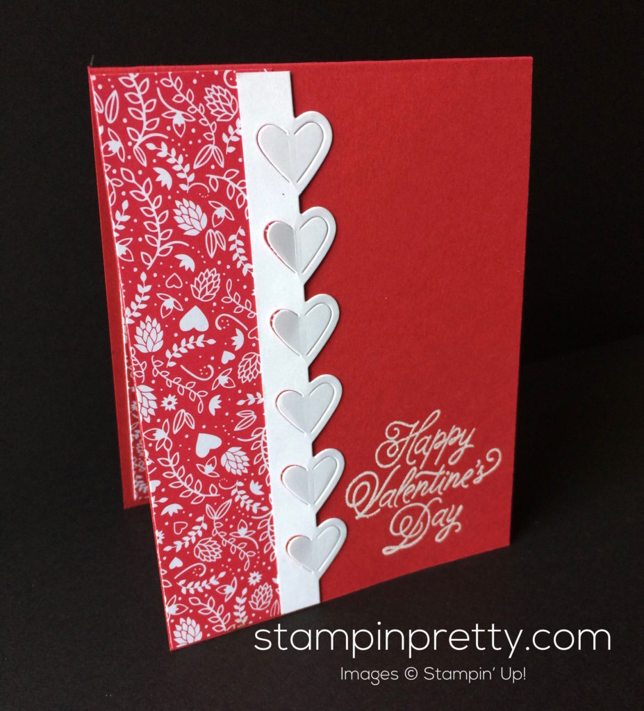 stampin pretty sealed with love valentine card idea
