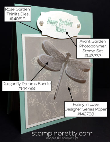 Stampin Up Avant Garden Birthday Card idea Mary Fish Stampinup