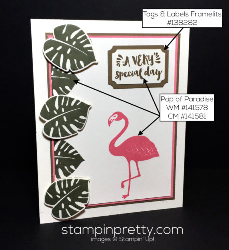 Stampin Up Pop of Paradise Inspired by Color Mary Fish Stampinup