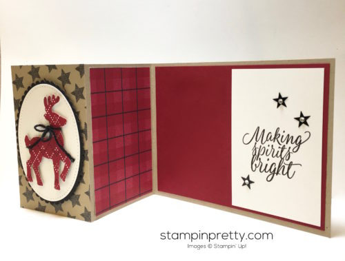 Stampin Up Santas Sleigh Thinlits Dies Tin of Tags Christmas Cards Idea - Mary Fish StampinUp