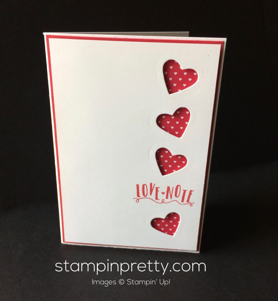 stampin up sealed with love valentine card idea