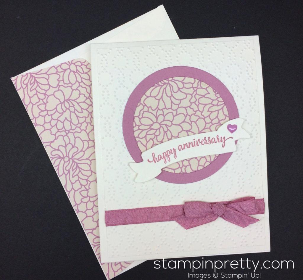 Sweet sugarplum anniversary card stampin pretty