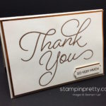 Sale-A-Bration Peek:  So Very Much Thank You Card