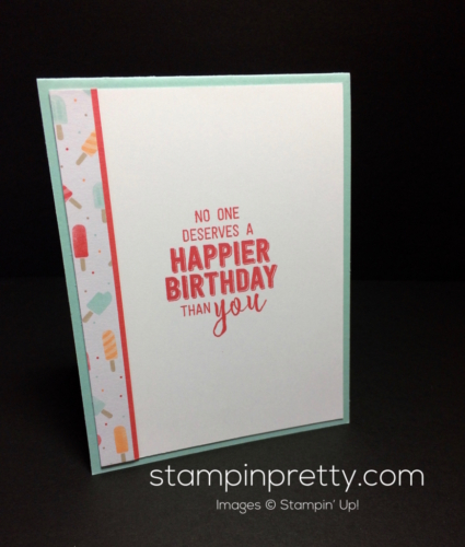 Stampin Up Cool Treats Birthday cards idea - Mary Fish stampinup