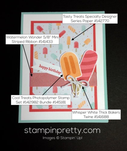 Stampin Up Cool Treats Birthday cards ideas - Mary Fish stampinup