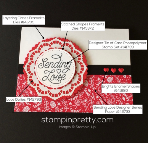 Stampin Up Designer Tin of Cards Valentine cards idea - Mary Fish stampinup