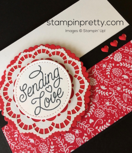 Stampin Up Designer Tin of Cards Valentine cards ideas - Mary Fish stampinup