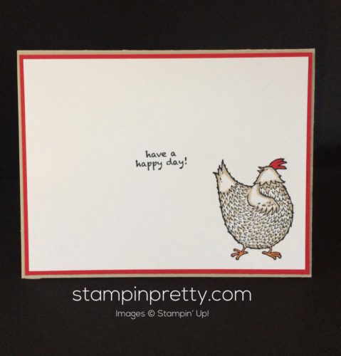 Stampin Up Hey Chick Birthday card ideas - Mary Fish stampinup