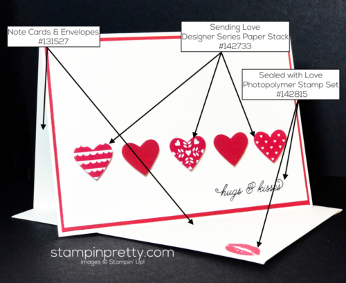 Stampin Up Sealed with Love Bundle Love card idea - Mary Fish Stampin Up