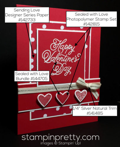 Stampin Up Sealed with Love Valentine Card idea Mary Fish Stampinup