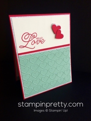 Stampin Up Sealed with Love Valentine card idea - Mary Fish stampinup