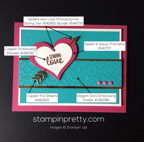 Stampin Up Sealed with Love Valentine cards ideas - Mary Fish stampinup