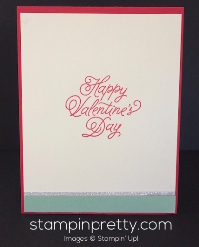 Stampin Up Sealed with Love Valentines card idea - Mary Fish stampinup