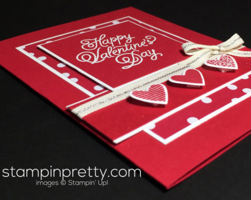 Stampin Up Sending Love Suite Valentine card idea Mary Fish Stampinup