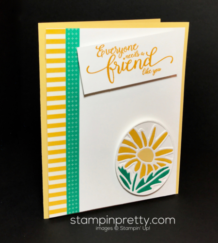 Stampin Up Timeless Tags Thinlits Friendship card Mary Fish Stampinup