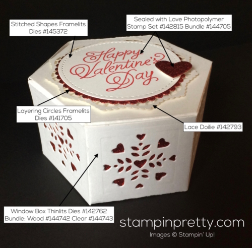 Stampin Up Window Box 3D Valentine ideas - Mary Fish stampinup