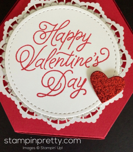Stampin Up Window Box 3d Valentine idea - Mary Fish stampinup