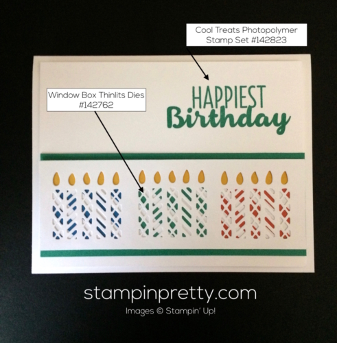 Stampin Up Window Box Birthday cards ideas - Mary Fish stampinup