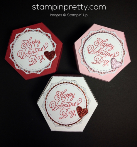 Stampin Up Window Box Valentine 3D idea - Mary Fish stampinup