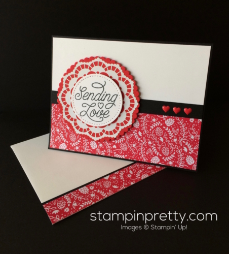 Stampin Up Designer Tin of Card Valentine card idea - Mary Fish stampinup