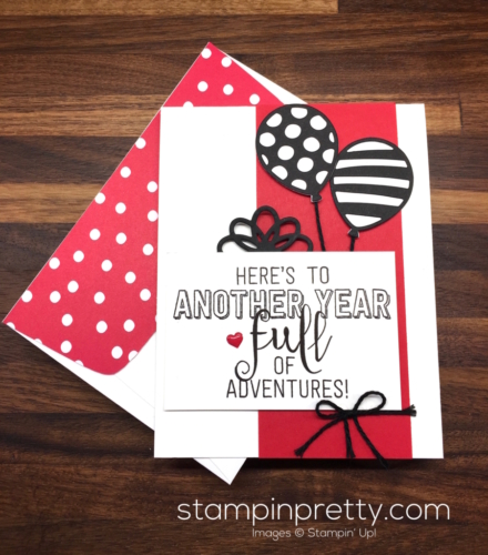 Stampin Up Balloon Adventures Pop-Up Thinlits Dies Birthday Card Ideas - Mary Fish StampinUp