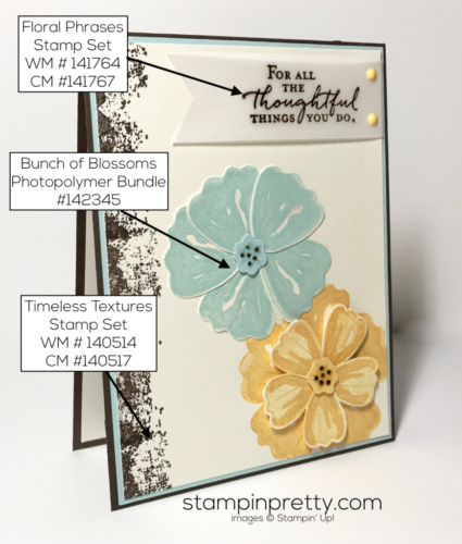 Stampin Up Bunch of Blossoms Timeless Textures Mary Fish Stampinup