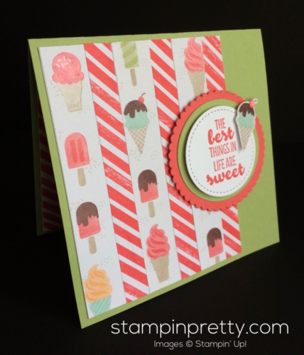 Stampin Up Cool Treats Just Because Card idea - Mary Fish stampinup