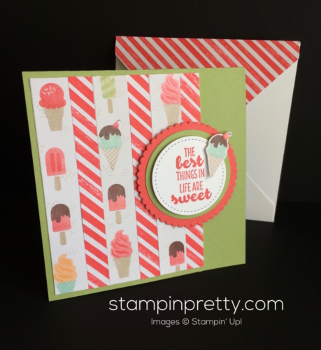 Stampin Up Cool Treats Just Because card - Mary Fish stampinup