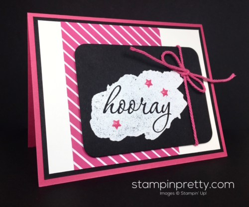 Stampin Up Reverse Words Congratulations Card Idea by Mary Fish StampinUp