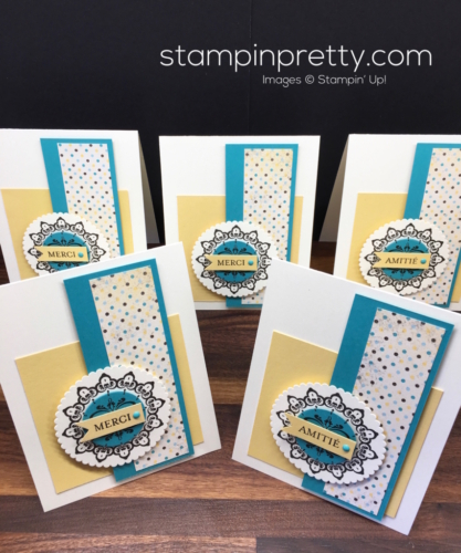 Stampin Up Sale-A-Bration Medaillon Sur Mesure Make a Medallion Thank You Card Idea - Mary Fish stampinup