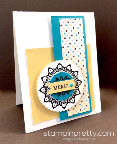Stampin Up Sale-A-Bration Medaillon Sur Mesure Make a Medallion Thank You Card Ideas - Mary Fish stampinup