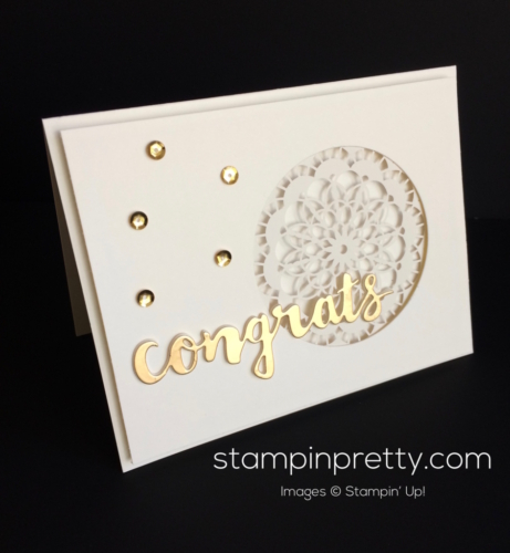 Stampin Up Sunshine Wishes Congratulations card idea - Mary Fish stampinup
