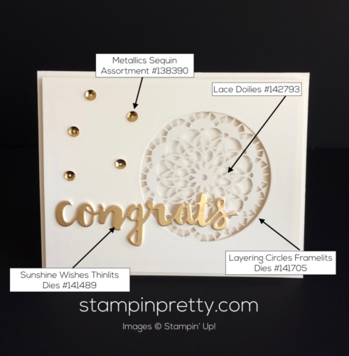 Stampin Up Sunshine Wishes Congratulations cards idea - Mary Fish stampinup