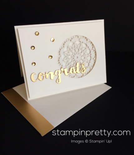 Stampin Up Sushine Wishes Congratulations Card - Mary Fish stampinup