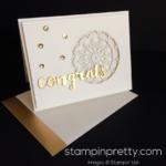 A Golden Congrats Card