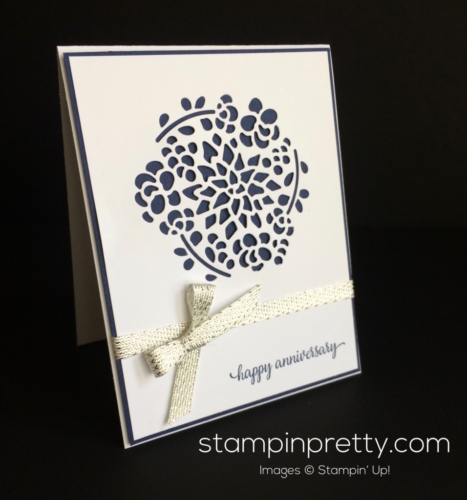 Stampin Up Window Box Anniversary card idea - Mary Fish stampinup