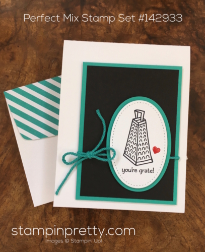 Simple thank you card using Stampin Up Perfect Mix - Mary Fish StampinUp
