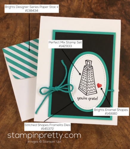 Simple thank you card using Stampin Up Perfect Mix - Mary Fish StampinUp Supply List